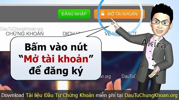 Mở 1 tài khoản ở công ty chứng khoán Việt Nam